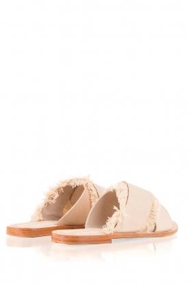 Antik Batik | Leren slippers Alba | nude