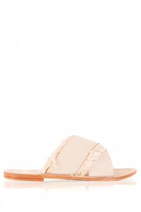 Antik Batik |  Leather flip-flops Alba | nude