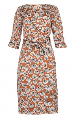 Aaiko |  Dress with print Inez | camel