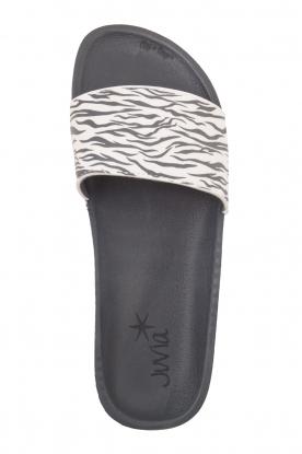 Juvia   Slippers Zebra   zwartwit