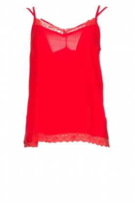 Aaiko |  Sleeveless top with lace Vlint | red