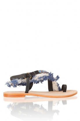 Antik Batik | Leren sandaal Leena | bruin