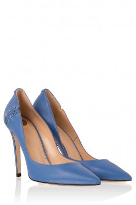 ELISABETTA FRANCHI | Leren pumps Alta | blauw