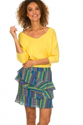 Aaiko |  Skirt with colourful print Ylva | multi