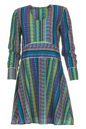 Aaiko |  Dress with colourful print Yael | multi