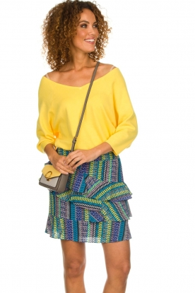 Aaiko |  Top with crossed back detail Valencia | yellow