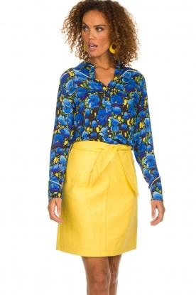 Aaiko |  Faux leather skirt Patia | yellow