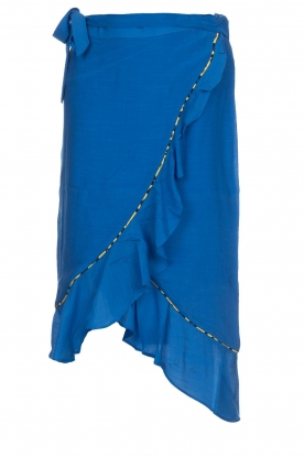 Aaiko |  Midi skirt with ruffles Tisadee | blue
