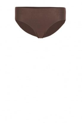 Seamless midi brief Invisible Cotton | brown
