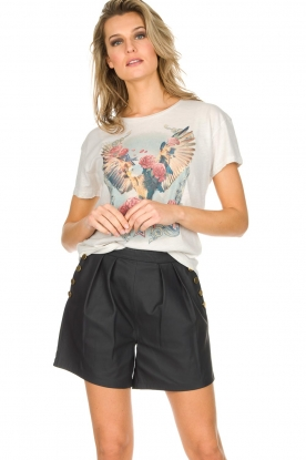 Ruby Tuesday | Leren shorts Lana | Zwart
