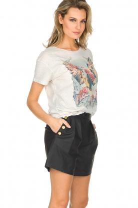 Ruby Tuesday | Leren shorts Lana | Zwart