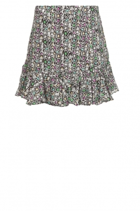 Aaiko |  Snake print skirt with ruffles Sillo | multi