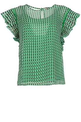 Aaiko |  Graphic printed top Remi | green