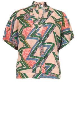 Aaiko |  Printed wrap blouse Popy | multi