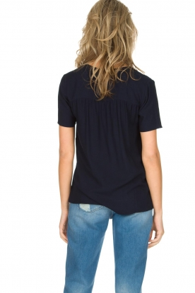 Knit-ted   Top Eef   Donkerblauw
