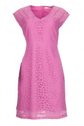 AAIKO Kanten jurk Pya  roze