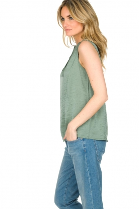 Knit-ted | Top Karo | groen