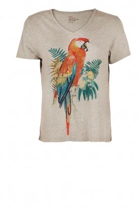Leon & Harper | T-shirt  Parrot | grijs