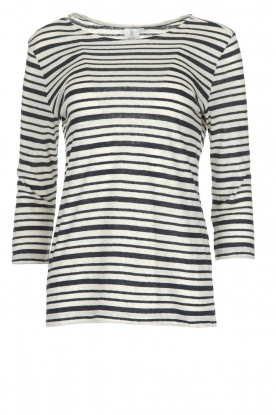 Knit-ted |  Striped top Esma | Blue