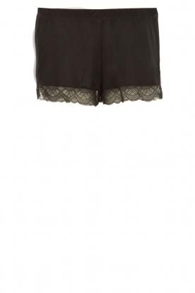 Hanro | Short Pyjama Eleonora | Zwart