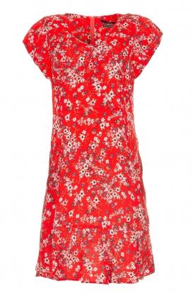 SET Jurk met bloemetjesprint Ally  rood