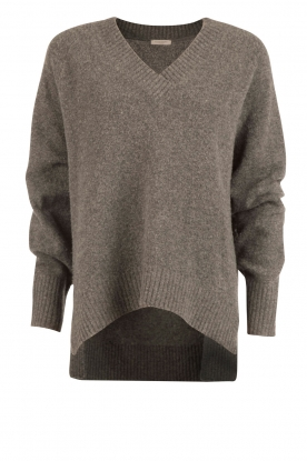 Hunkydory |  Woolen sweater Bevin | grey