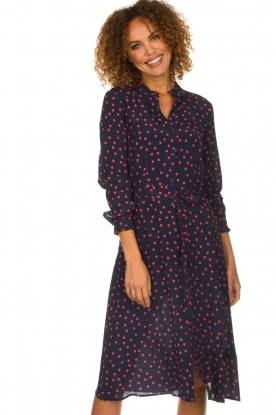 Set |  Dress with  polka dots | blue