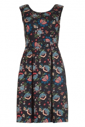 Set |  Dress with floral print Lea | blue