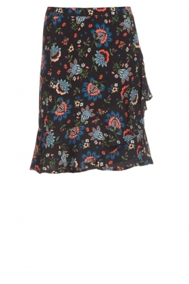 Set |  Skirt with floral print Didi | black