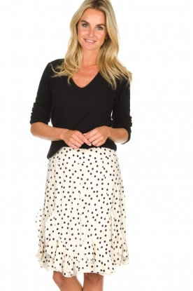 Set | Rok met stippen Lilly | naturel