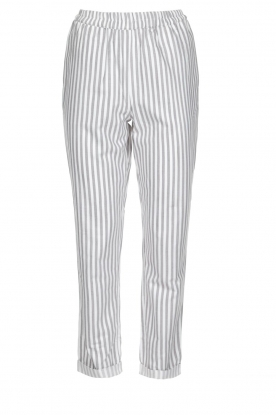 Knit-ted |  Striped pants Joan | Grey