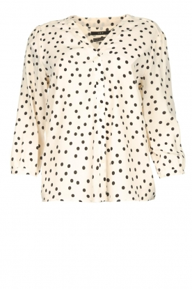 Set | Blouse with dots Romy | natural