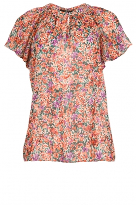 Set |  Floral blouse with ruffles Bloom | print