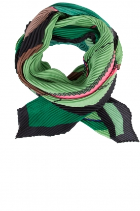 Becksöndergaard |  Pleated scarf Kalmia | Green