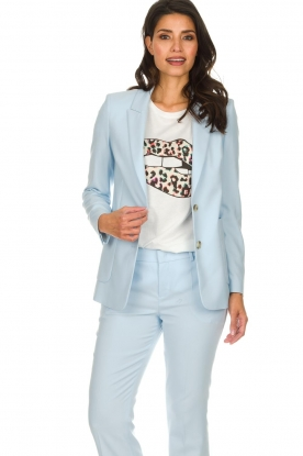 Set |  Blazer Noortje | light blue