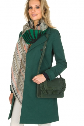 Becksöndergaard |  Suede shoulder bag Allir | army green