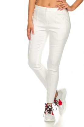 Set |  Classic trousers Gina | white