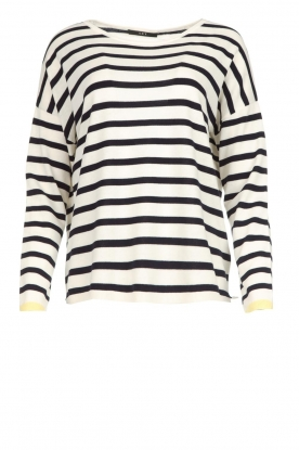 Set |  Striped sweater Tara | white