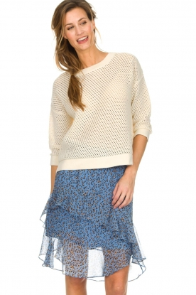 Set |  Knitted cotton sweater Noelle | white