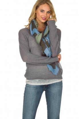 Becksöndergaard | 100% Katoenen sjaal met print | lichtgroen
