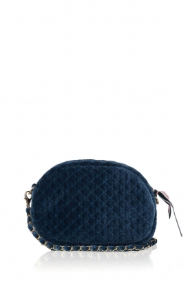 Becksöndergaard |  Velvet shoulder bag Lila | deep blue