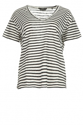 Set |  Striped linen T-shirt Mindy | white