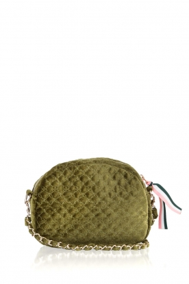 Becksöndergaard |  Velvet shoulder bag Lila | green