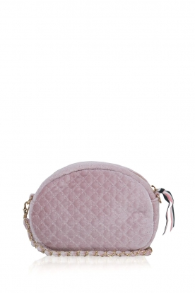 Becksöndergaard |  Velvet shoulder bag Lila | light pink