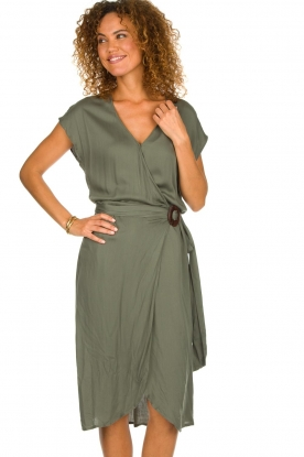 Rabens Saloner | Jurk Jennifer | zee groen: Dress Jennifer | sea green