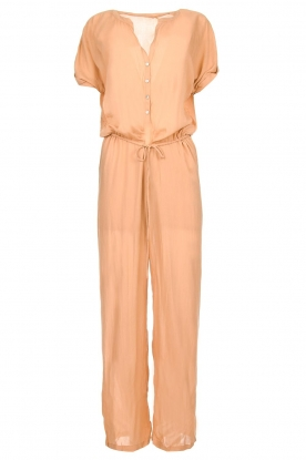 Rabens Saloner |  Jumpsuit with drawstring cord | nude