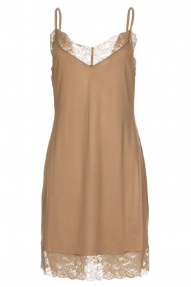 Hanro |  Slip dress with lace Miss | gold