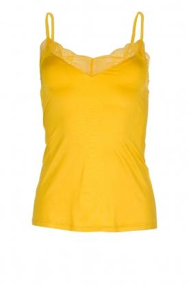 Hanro | Naadloze top Fleur | geel