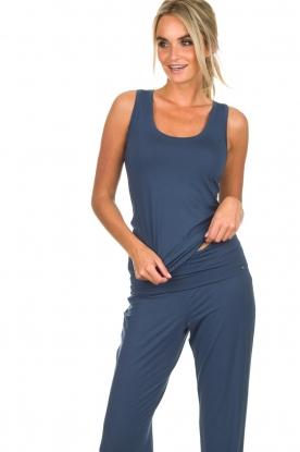 Hanro | Yoga top Ella | blauw