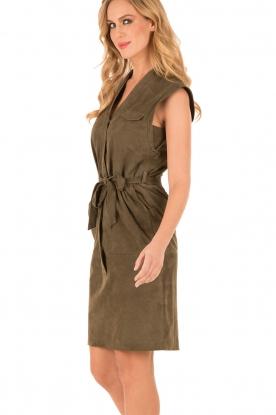 Set | Suède jurk Ramona | groen